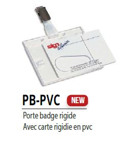 Porte Badge rigide Tunisie PB-PVC